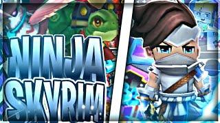 New Game!! Ninja Skyrim 🤩 (Blockman GO Blocky Mods)