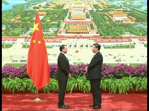 Chinese President Receives Credentials from 14 Ambassadors to China