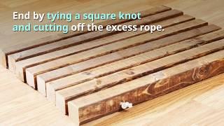 Diy Homemade Wooden Doormat Tutorial