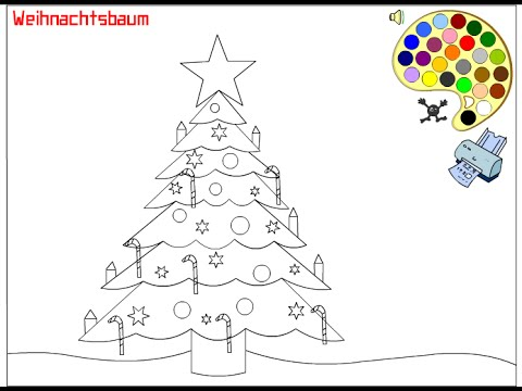 Christmas Tree Coloring Pages For Kids Christmas Tree Coloring