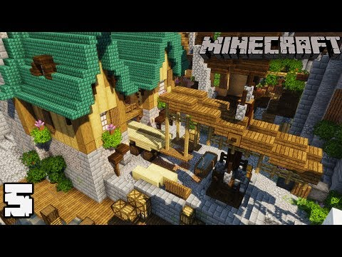 Let's Build City Docks #5 SHIP BUILDER + CRANE : MINECRAFT 1.13.2 Survival Let's Play