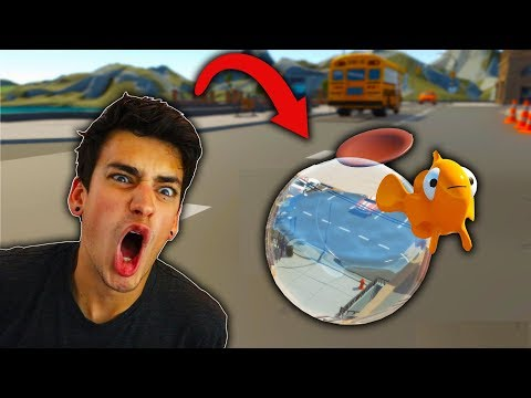 CROSSING A STREET IN A FISH BOWL?! (I Am Fish)