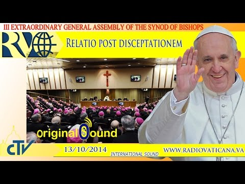 Report of the Relator general of the Synod after the general debate 2014.10.13