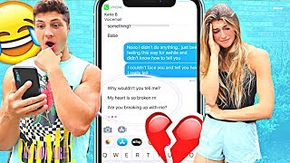 BREAKING UP WITH MY GIRLFRIEND THROUGH TEXT PRANK! *SHOCKING*