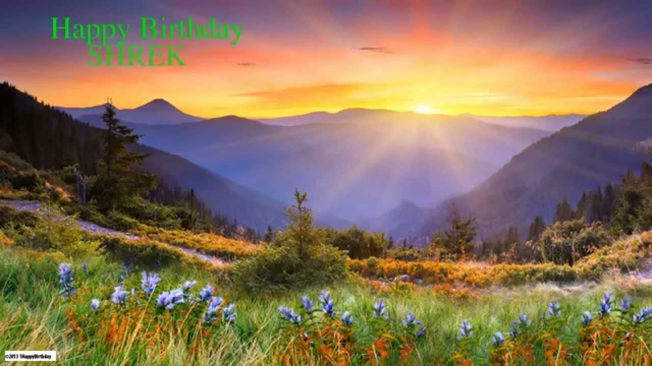 Shrek Nature Naturaleza Happy Birthday Youtube