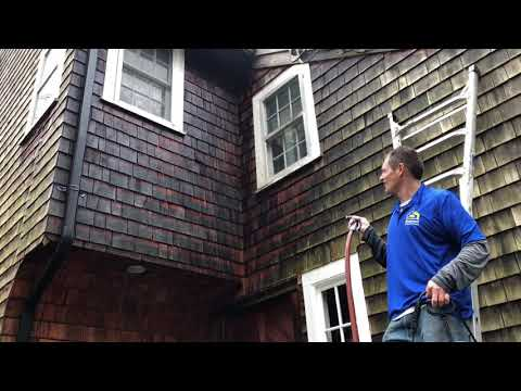 cleaning cedar siding with oxiclean without a pressure washer