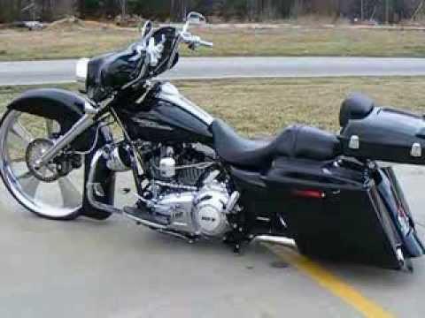 Vivid Black Razor  Harley Davidson HD Tour Pak Trunk Pack pan cake touring