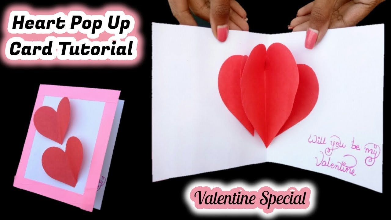 how to make a pop up valentine card