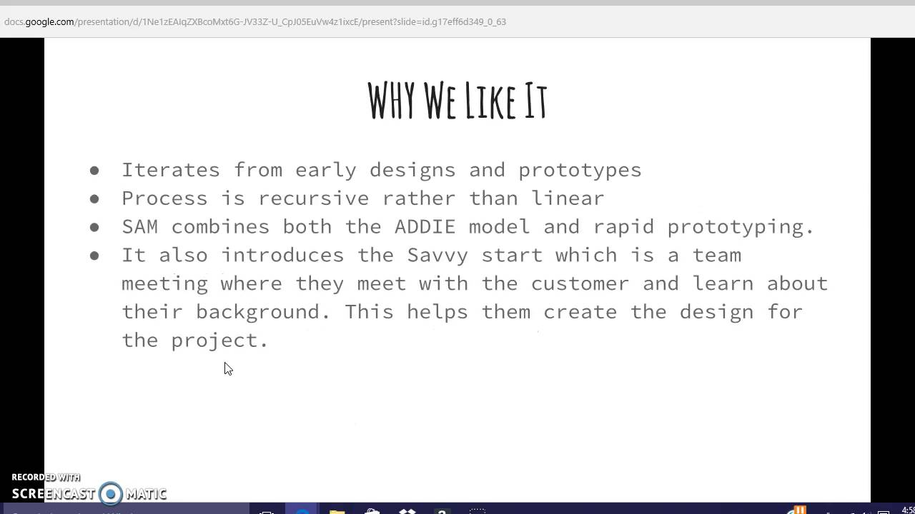 Sam Instructional Design Model Youtube