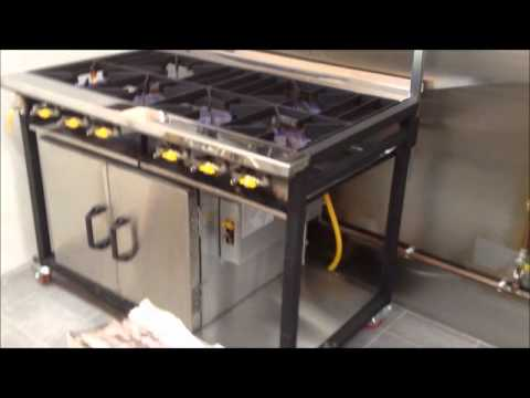 Commercial Indian Cooker - 6 Burners With 1 Oven