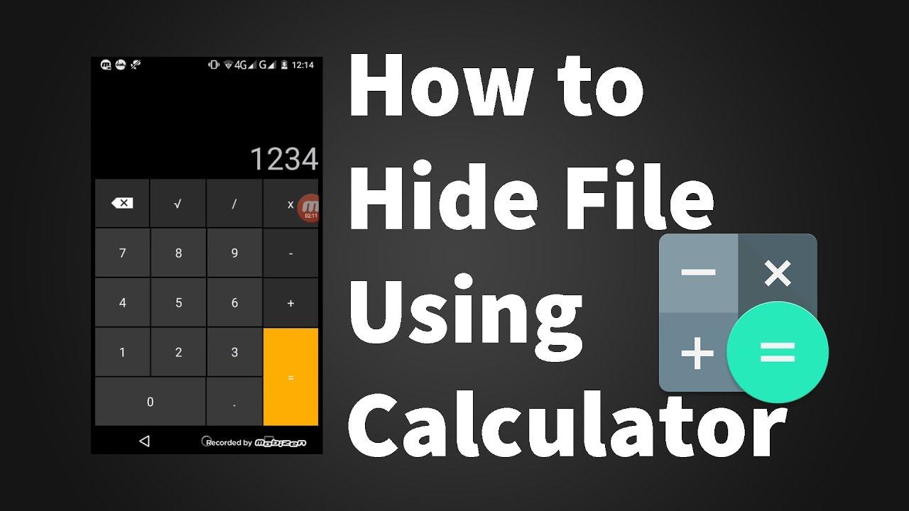 Calculator file hider