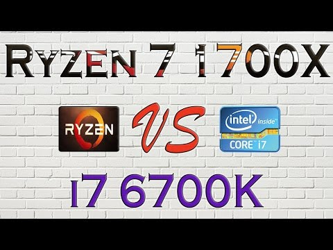 RYZEN 7 1700X Vs I7 6700K - BENCHMARKS / GAMING TESTS REVIEW AND COMPARISON / Ryzen Vs Skylake