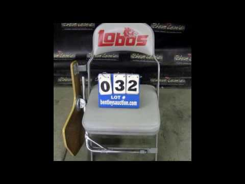641 UNM Lobo Tablet Desk Folding Chairs Online Auction