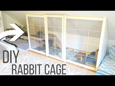 BUILDING THE NEW DIY RABBIT CAGE