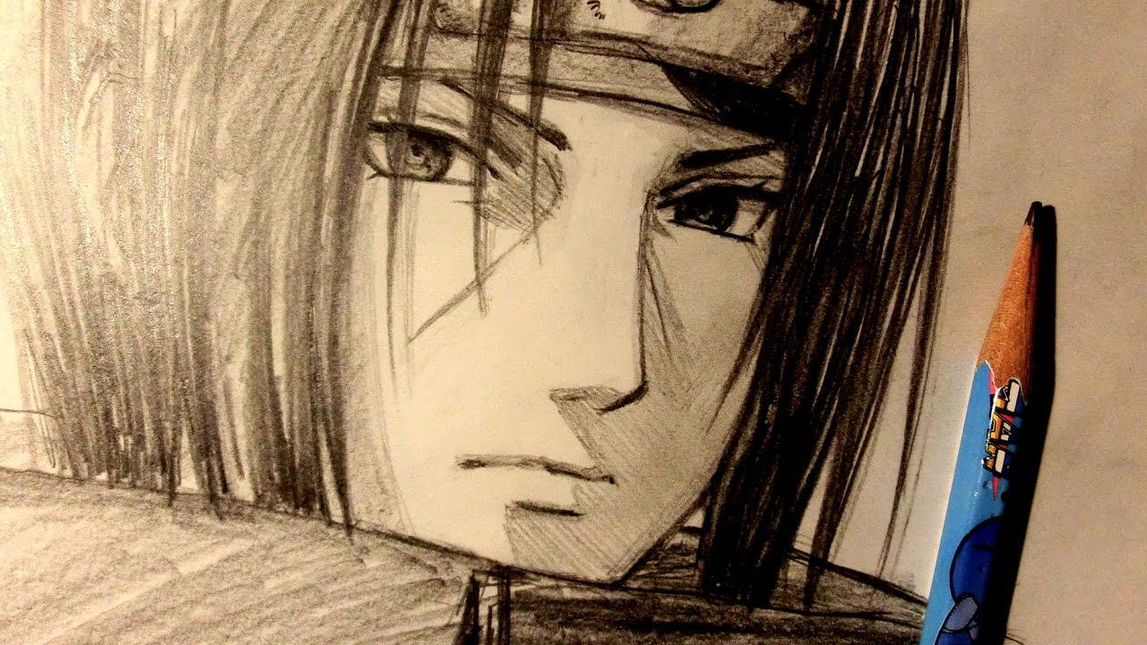 asmr pencil drawing 62 itachi uchiha request youtube