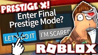 I FINALLY REACHED MAX PRESTIGE LEVEL 10!! *Prestige X!* (Roblox Murder Mystery 2)