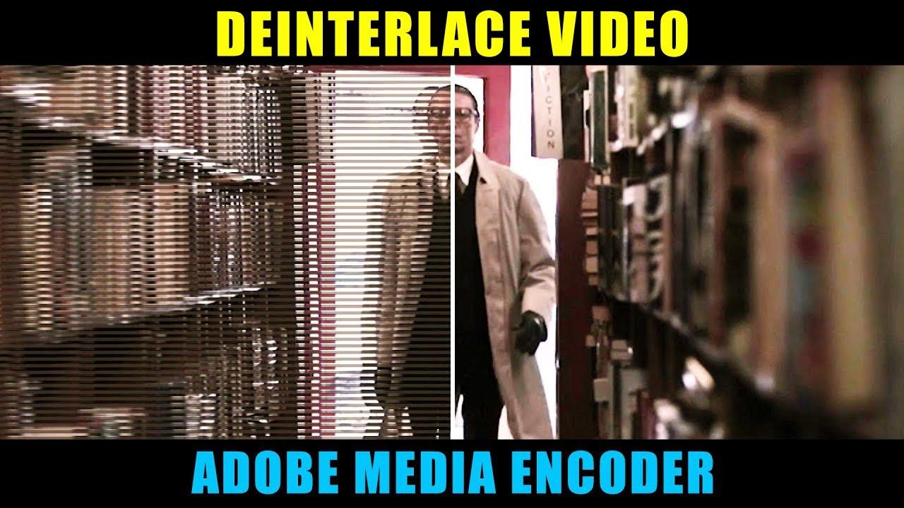 Deinterlace media encoder