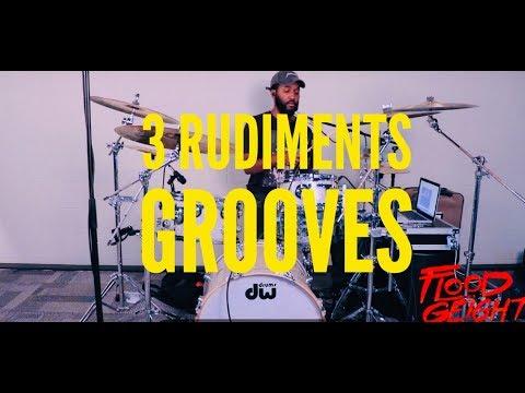 3 Rudiment Grooves