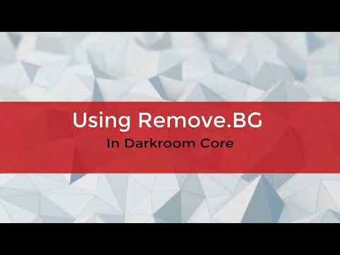 Using Remove.BG in Darkroom Core 9.3 - New Feature