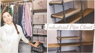 DIY Industrial Pipe Closet Tutorial