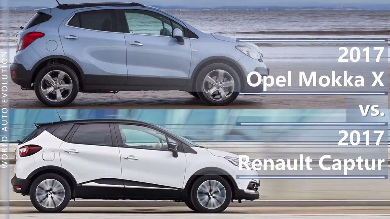 2017 Opel Mokka X Vs 2017 Renault Captur Technical Comparison