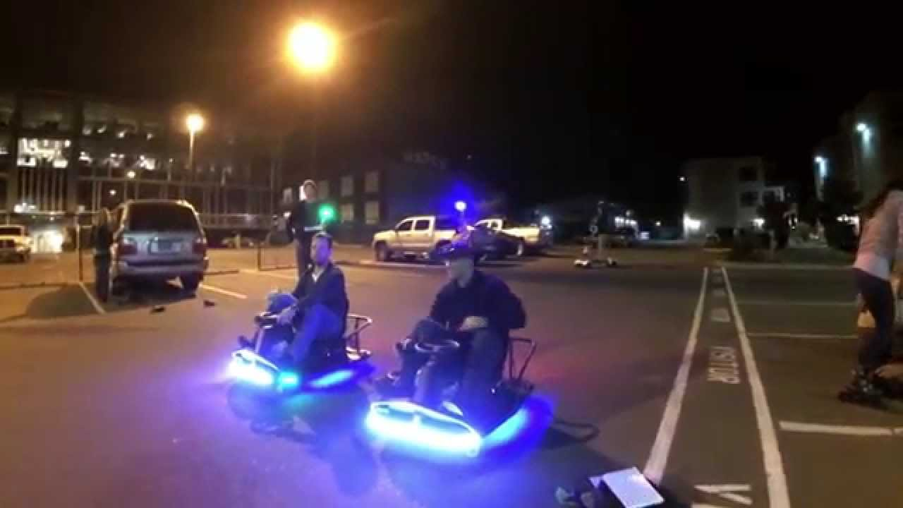 Top Secret Night Racing With The Crazy Cart Xl Rollerblades Ebikes And Electric Trike