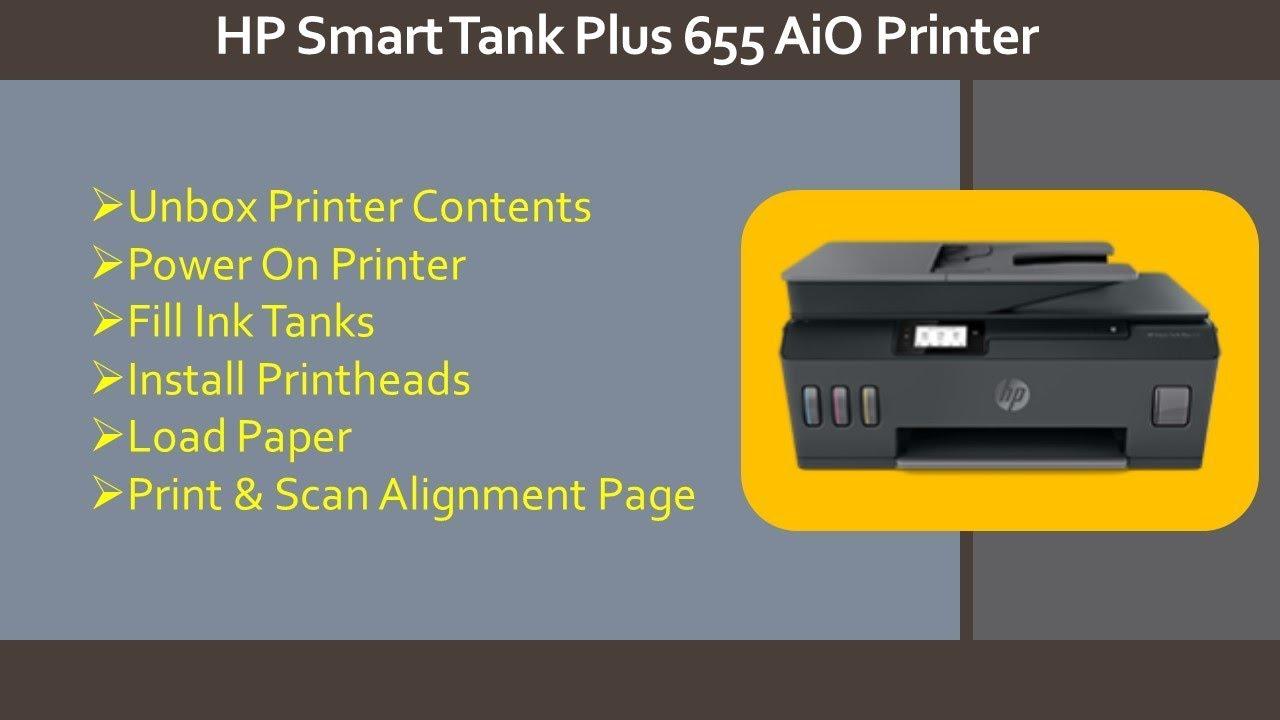 Hp Smart Tank Plus 500 600 Printer Series Unbox Fill Ink Tanks Install Printheads Paper Youtube
