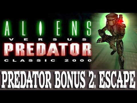 Aliens versus Predator Classic 2000 Walkthrough Predator Bonus 2 Escape (Gameplay/No Commentary) |