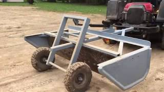 DIY Mini grader box for a riding mower.
