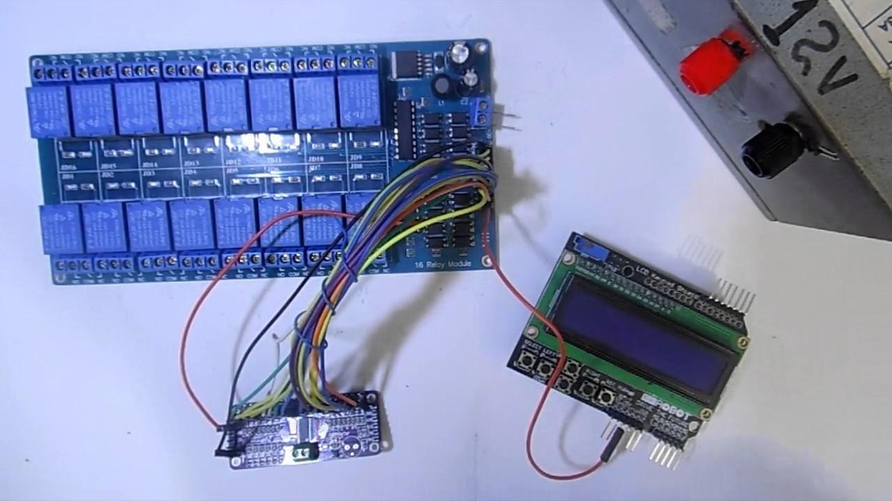 Modulo Rele 12v 16 Canales Optoacoplado Pic Arduino Avr