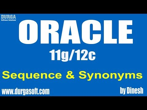 Oracle | Sequence & Synonyms by Dinesh