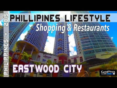 Manila Philippines Eastwood City Mall courtyard |Asia Travel VLOG