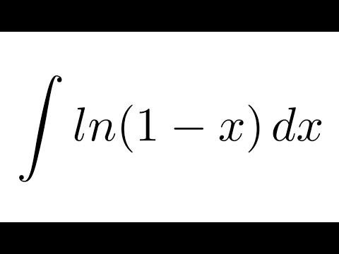 Integral of ln(1-x) (substitution + by parts)