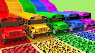 영어 배우기! 알파벳송 인기 تعليم الاطفال مع - العاب أطفالأغاني الحضانة وأغنية الأطفال street vehicle schoolbus