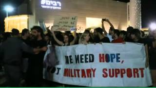 Channel 4 News - Israelis express their support for war in Gaza (30/7/14)