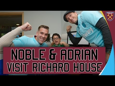 NOBES & ADRIAN VISIT YOUNGSTERS AT RICHARD HOUSE 👏