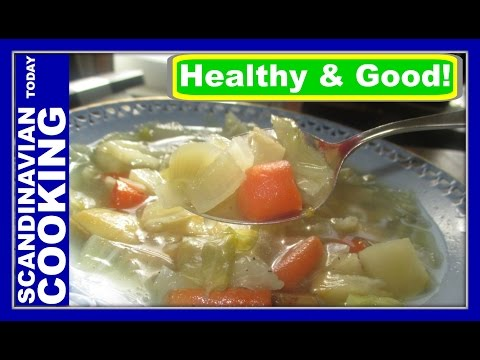 How To Make Homemade Delicious Danish Cabbage Soup ♥ Hvidkålssuppe