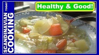 Hvidkålssuppe - Danish Cabbage Soup