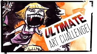 Yeti, Villains and Heroes! OH MY! - ULTIMATE ART CHALLENGE!