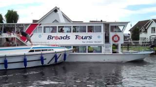 Boat crash at Wroxham on the Norfolk Broads