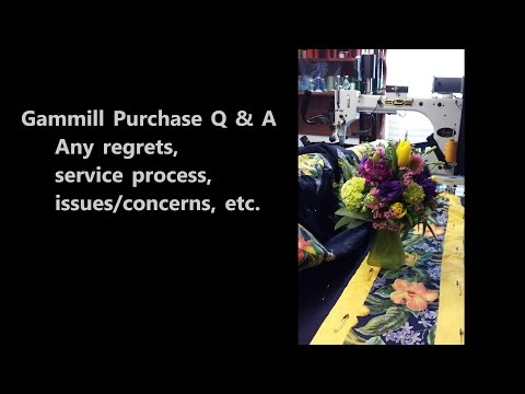 Gammill Longarm Purchase:  Q And A