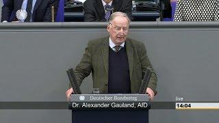 Generalaussprache zur Regierungserklärung - Alexander Gauland AfD 21.03.2018 - Bananenrepublik
