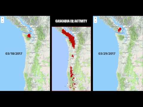 Cascadia EQ activity