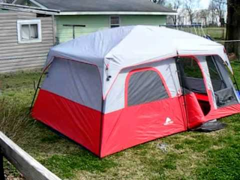 Ozark Trails 10 person tent with screen room. Set up & Ozark Trails 10 person tent with screen room. Set up - YouTube