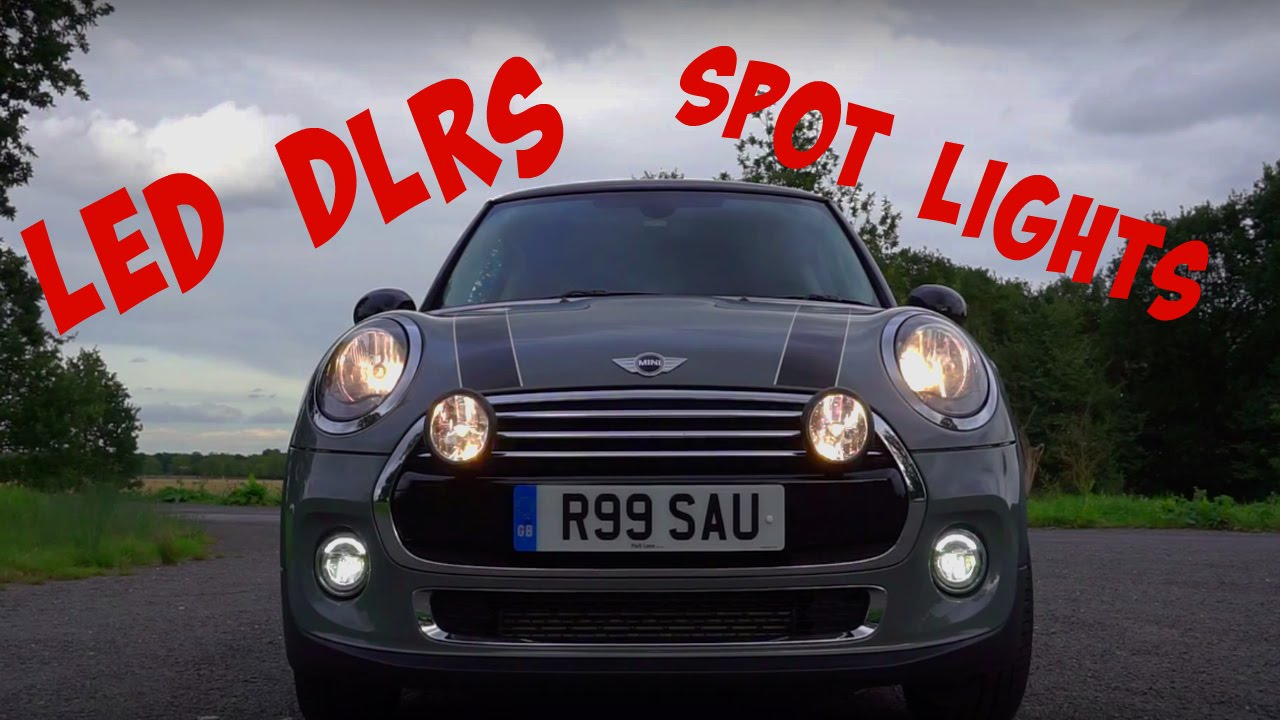 mini cooper f56 spot lights  u0026 led drls