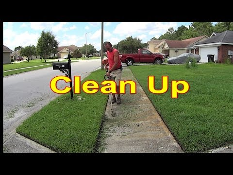 Cutting Grass - Another Lawn Service Clean Up #SideHustle