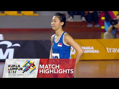 Netball match highlights: Singapore 🇸🇬 vs Philippines 🇵🇭 | 29th SEA Games 2017