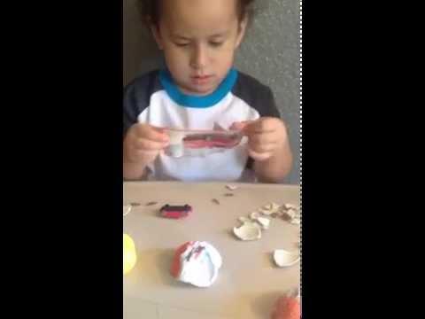 Open Kinder Egg from Switzerland Zürich