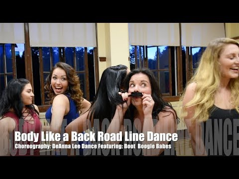 Body Like a Back Road Line Dance TEACH & DEMO- Sam Hunt (Boot Boogie Babes)
