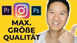 Instagram Bilder und Videos hochladen - RICHTIGE Format - Auflösung - Größe - Länge